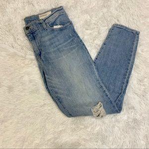 Pistola Light Wash Ankle Skinny Jeans Size 30